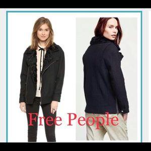 NWOT Black Free People Jacket, Size Large